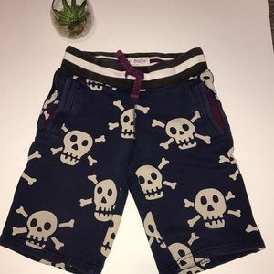 Boys size 5 Boden navy skull shorts